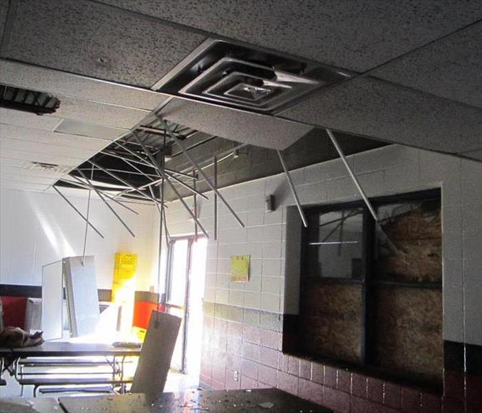 Ceiling Damage in School