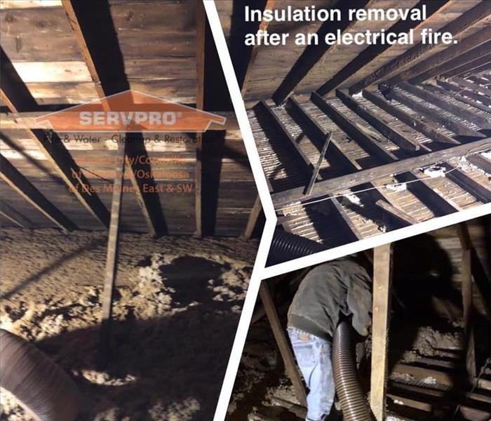 Insulation Removal after a Fire
