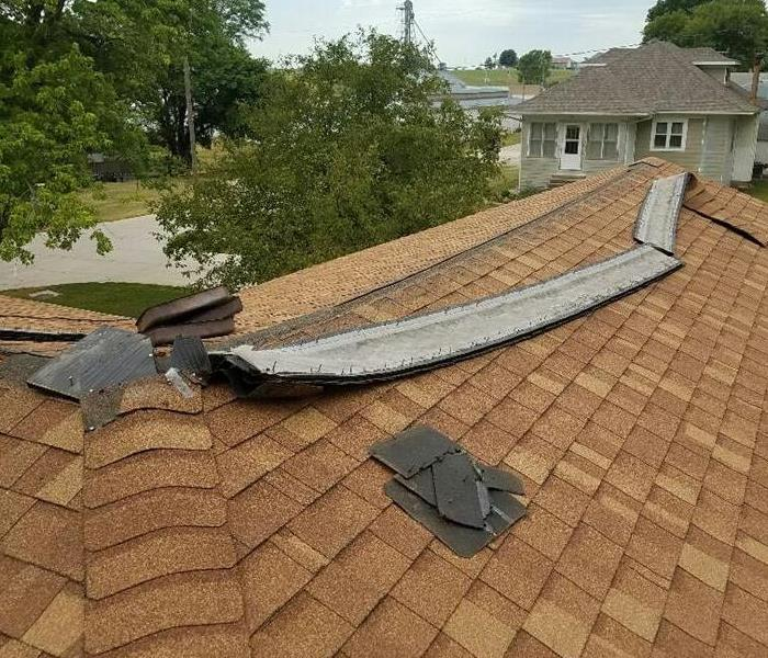 Roof Damage following Wind Storm