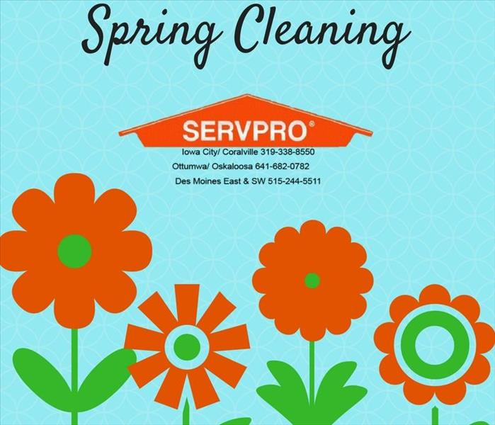 Cleaning Spring Cleaning will be a breeze when you contact SERVPRO of Iowa City/Coralville